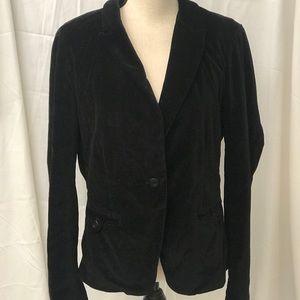 LUCKY BRAND Black Velvet Blazer Size XL